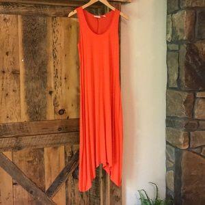 Orange 🍊 NY and Co. asymmetrical dress, size xs